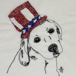 4th of July Lab in Hat