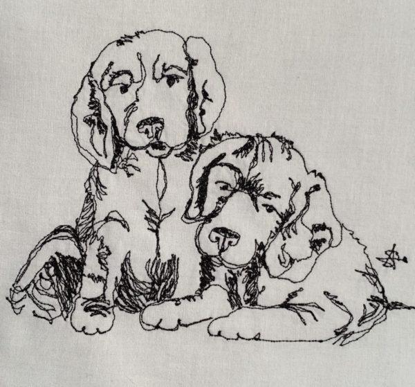 Two Spaniel Pups