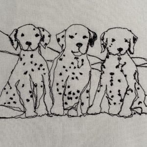 Three Dalmation Puppies