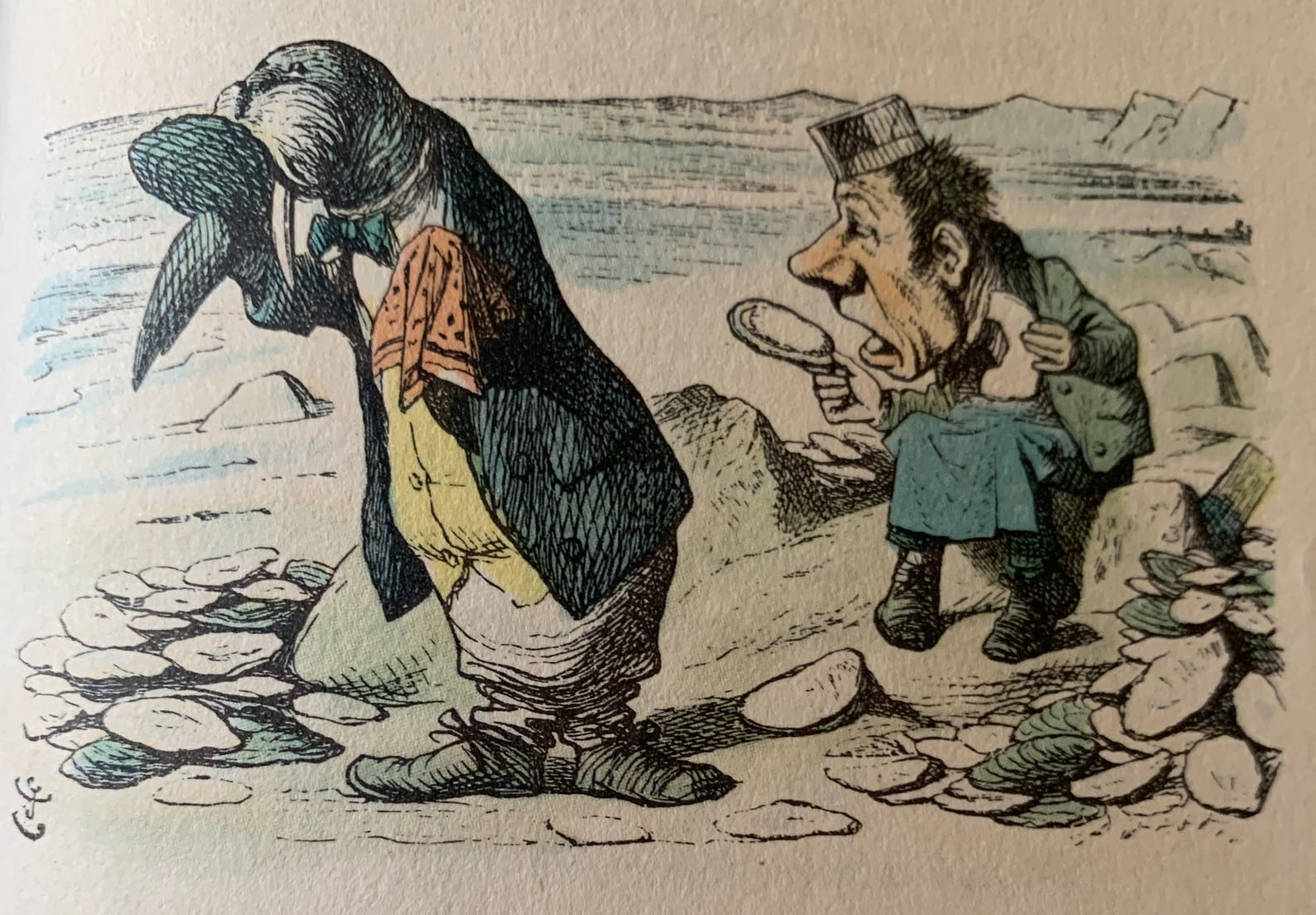 Tenniel illustration from Through the Looking Glass